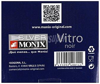 MONIX Cafetera express / italiana modelo Vitro, fabricada en aluminio de color negro con recubrimiento interior antiadherente 1 Unidad