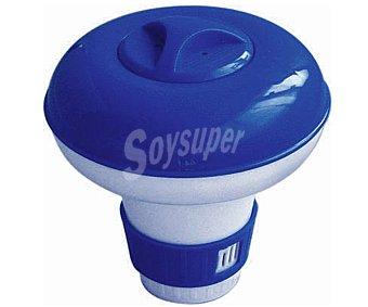 Productos Económicos Alcampo Dosificador flotante de cloro de tamaño pequeño para pastillas de 38 milímetros. Ideal para spas y piscinas de pequeño tamaño 1 unidad