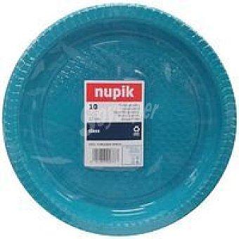 Nupik Plato 22 cm azul Pack 10 unid