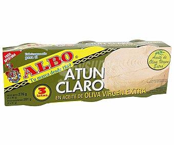 Albo Atún claro en aceite de oliva virgen extra Pack 3 x 67 g neto escurrido