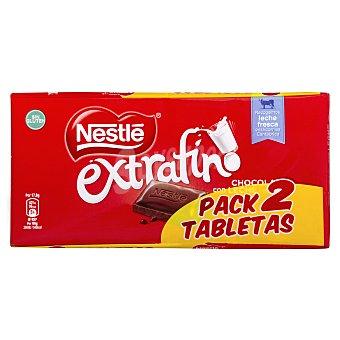 Extrafino Nestlé Chocolate con leche Pack 2 tabletas x 125 g - 250 g