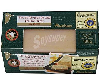 Auchan Bloc foie gras de pato 30% en trozos 180g
