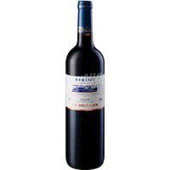 De Mulle Vino Tinto Merlot Tarragona Botella 75 cl