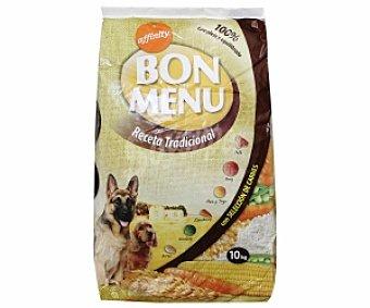BON MENU Comida seca para perros: Croquetas Receta tradicional (buey, pollo, arroz, maíz, trigo y legumbres) 10 Kilogramos