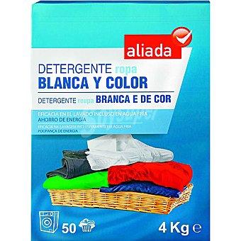 Aliada Detergente máquina polvo para ropa blanca y de color Maleta 50 cacitos