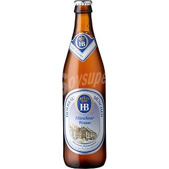HOFBRÄU MÜNCHEN Cerveza rubia de trigo alemana Botella 50 cl