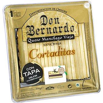 Don Bernardo Queso manchego viejo 100% oveja cortaditas cuña 200 g