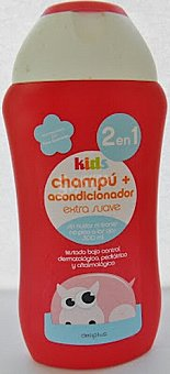 Deliplus Champu cabello niños 2 en 1 kids Botella 300 cc
