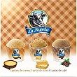 Tarrinas de helado 2 de crema, 1 turrón y 1 café estuche 400 ml Caja 4 tarrinas x 100 ml (400 ml) La Fageda