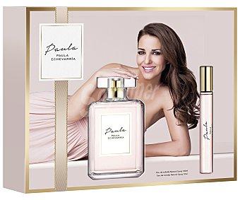Paula Echevarría Estuche regalo para mujer con colonia de 100 mililitros y vaporizador de viaje de 10 mililitros 1 unidad