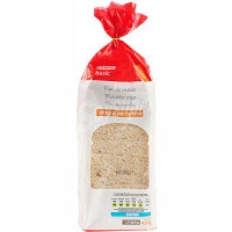 Eroski Basic Pan de molde integral sin corteza Paquete 450 g