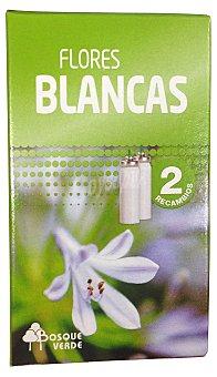 Bosque Verde Ambientador ultraconcentrado apretar recambio aroma flores blancas Pack 2 x 15 cc - 30 cc
