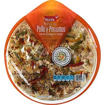 Aliada Pizza fresca de pollo y pimientos Envase 430 g