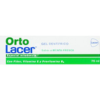 Lacer Gel dental ortodoncia de menta Tubo 75 ml