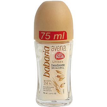 Babaria Desodorante roll-on avena unisex sin alcohol envase 75 ml Envase 75 ml