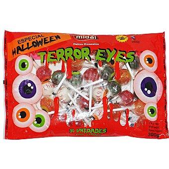 MIGUELAÑEZ Terror Eyes caramelos duros con palo  bolsa 300 g