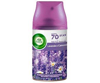 Air Wick Freshmatic Ambientador lavanda y camomila- Recambio 250 ml
