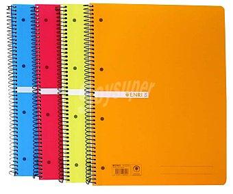 Enri Cuaderno A4 microperforado tapa de plástico cuadricula de 5 milímetros 120 hojas 70 gramos 1 unidad