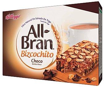 All Bran Kellogg's Cereales en bizcocho de chocolate y fibra Pack de 6 uds