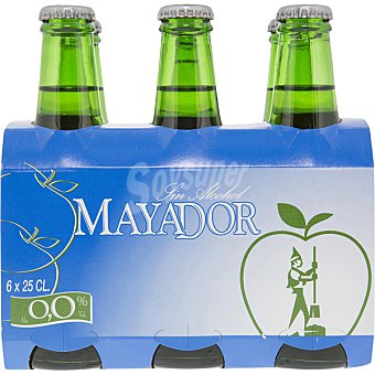 MAYADOR Sidra asturiana achampanada sin alcohol pack 6 botellas 25 cl Pack 6 botellas 25 cl