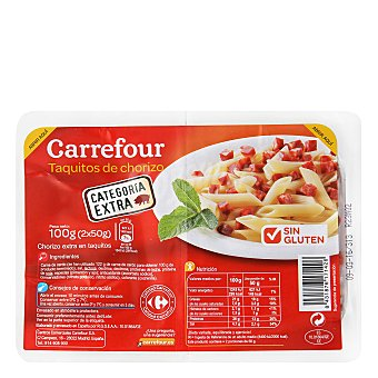 Carrefour Taquitos de chorizo - Sin Gluten 100 g