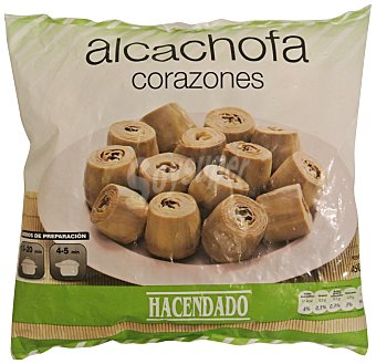 Hacendado Alcachofa corazones congelada Paquete de 450 g
