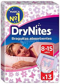 Dry Nites Braguitas Absorbentes Niña Talla 8-15 años 13 ud