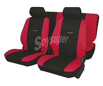 Car factory Juego de fundas para asientos de automóvil, modelo daytona, de talla única y fabricadas en poliester de color negro con los laterales en rojo 1 unidad