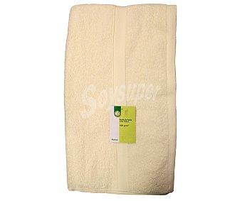 AUCHAN Toalla de baño 100% algodón, 400g/m², color crema, 100x150 centímetros 1 Unidad