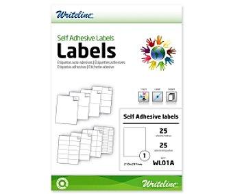 WRITELINE WL01A Etiquetas Adhesivas 210x297mm A4 25 Unidades