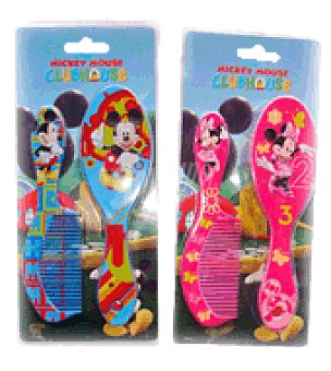 Disney Cepillo + peine michey & minnie 2 unidades
