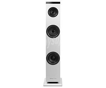 Energy Sistem Torre de audio tower 1 2.1, 30W rms, Aux jack 3,5, rca, Bluetooth, color blanco 2.1, 30W rms, Aux jack 3,5, rca, Bluetooth, color blanco