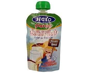 Hero Baby Bolsita de yogur con bizcocho Kikirikí Desayuno Nanos envase 100 g