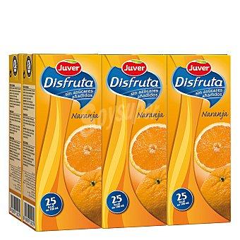 Juver-Disfruta Néctar de naranja sin azúcar añadido Pack de 6