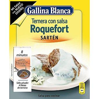 GALLINA BLANCA MI SALSA Preparado para hacer salsa roquefort especial para sartén Sobre 23 g