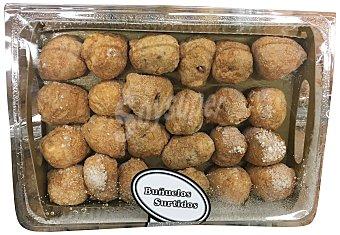 MERCAPASTRY Pasteles buñuelos rellenos surtidos (nata,trufa,crema) pasteleria congelada horno Bandeja 24 u