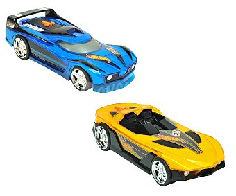 HOT WHEELS Coche con luces y sonidos, cambia de color al acelerar, modelo Lights & Sounds 1 unidad