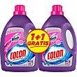 Detergente máquina líquido gel con agentes Vanish Ultra quitamanchas + 1 gratis 2 botellas 40 dosis Pack 1 Colón
