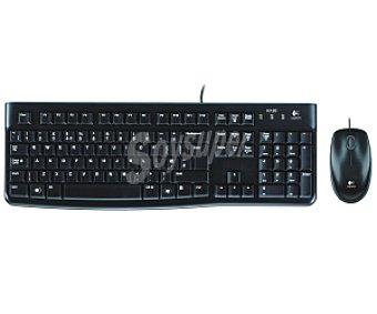 LOGITECH MK120 Teclado con ratón logitech Desktop MK120 Tipo de transmisión: Cable, USB 2.0