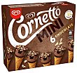 Mini conos de helado sabor chocolate Pack 6 x 60 ml  Cornetto Frigo
