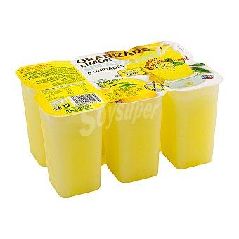 Hacendado Helado sin azúcar añadido granizado limón Pack 6 u - 1200 cc