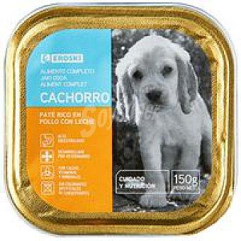 Eroski Paté de pollo para cachorro Lata 150 g