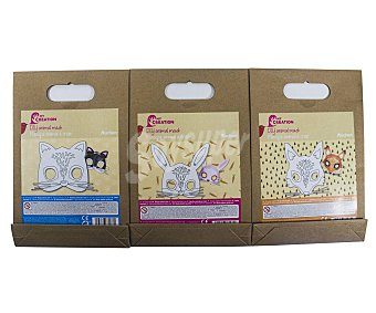 PRODUCTO ALCAMPO Kit creativo de mascaras infantiles surtidas en figuras de animales alcampo