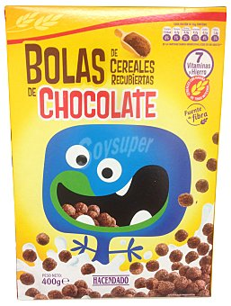 Hacendado CEREAL BOLAS CHOCOLATE CAJA 400 g