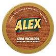 Cera en pasta de muebles incolora Lata 250 g Alex