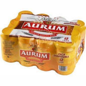 Cervezas Aurum Cerveza Pack 12x33 cl