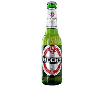 Beck's Cerveza rubia alemana botella 33