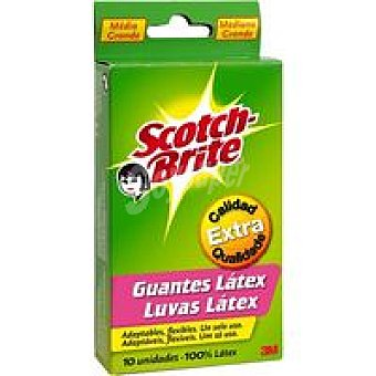Scotch Brite Guantes desechables talla mediana Pack 10 unid