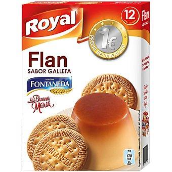 Royal Flan para preparar sabor galleta la Buena María de Fontaneda 12 raciones Paquete 80 g