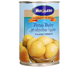 Mensajero Peras baby en almíbar ligero 240 gr